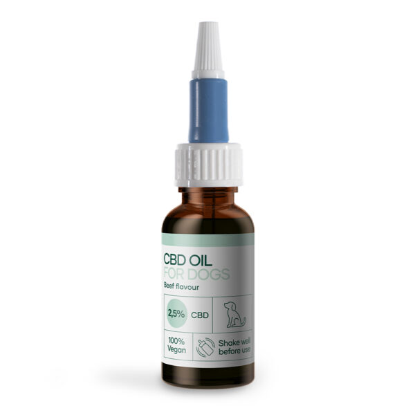 CBD Olja for hundar med nötkött (750mg CBD) 30ml